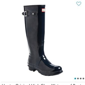 NEW Hunter Navy Blue Original Women's Rain Boots